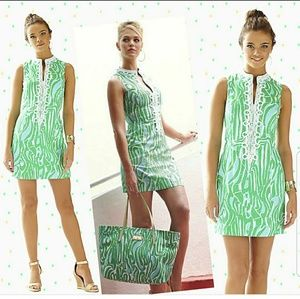 Lilly Pulitzer Blue/Green Shift Size 2